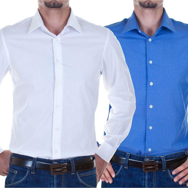 Calvin Klein Hemd Slim Fit Weiß oder Blau