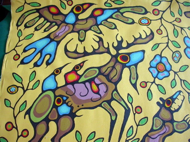 """The Gathering"" Painting by Norval Morrisseau"