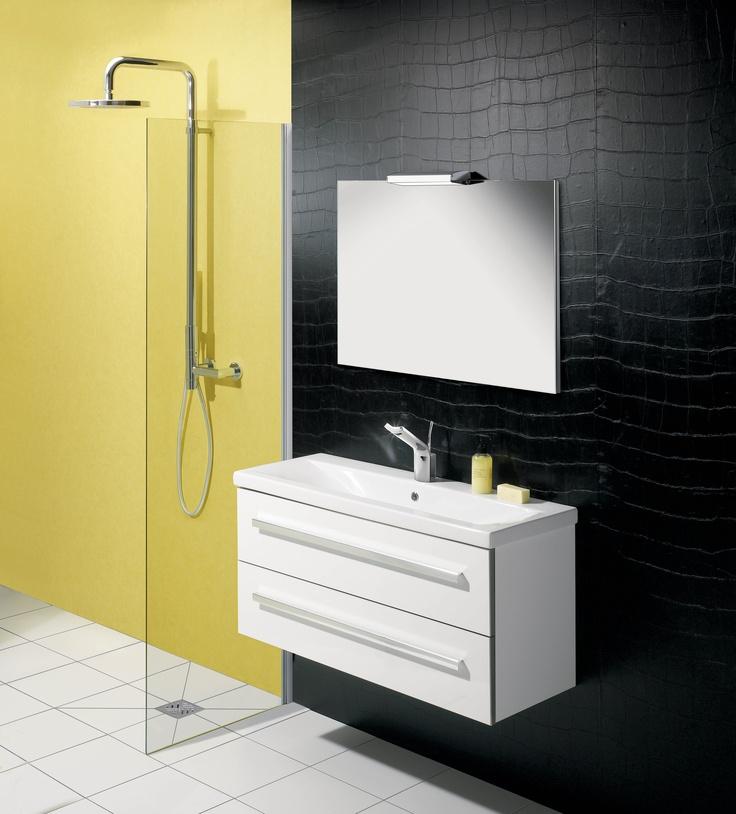 Glide White Gloss Bathroom Furniture Range from