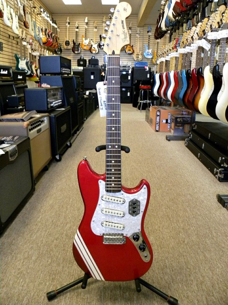 8 best fender cyclone images on pinterest guitar design electric fender cyclone ii guitar in candy apple red with white competition stripe rare mustang freerunsca Image collections