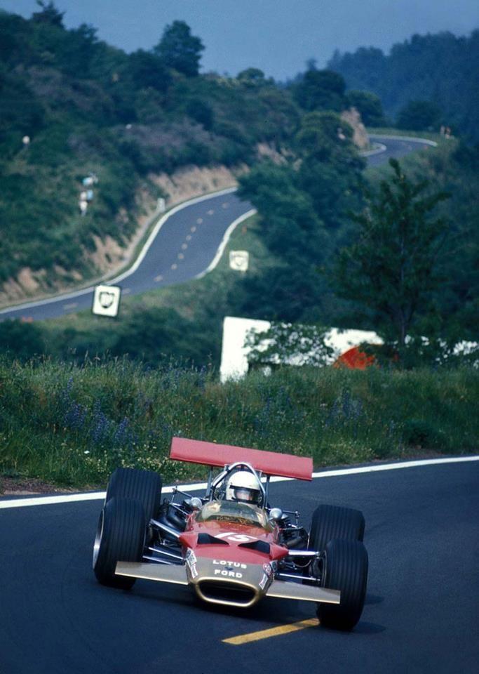 Jochen Rindt (Lotus-Ford) Grand Prix de France - Charade - 1969