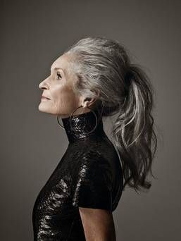 85-and-a-half-year-old Daphne Selfe,  you can be elderly, so long as you are skeletal.