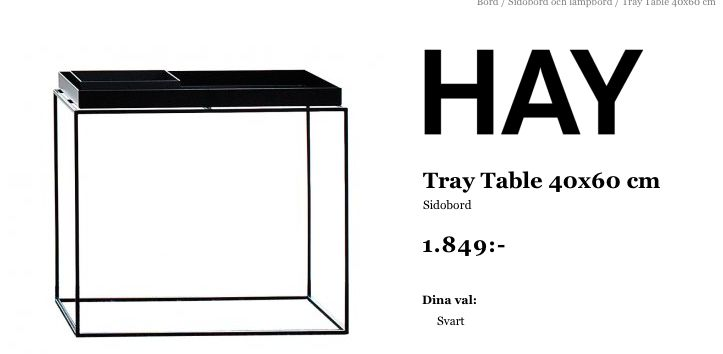 Sidebord HAY vitt eller svart - Länna möbler (antingen vid kakelugn eller balkongdörr)