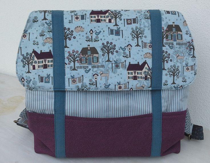 My backpack. Pattern by Colette, Lynette Andersen fabrics