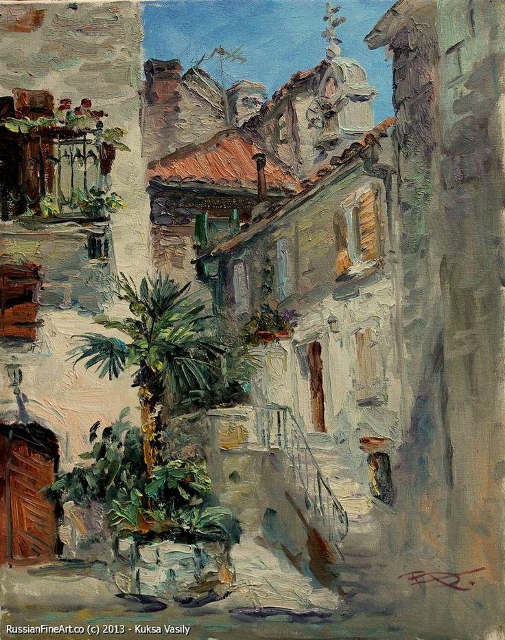 Russian Fine Art - Kotor - oil, canvas