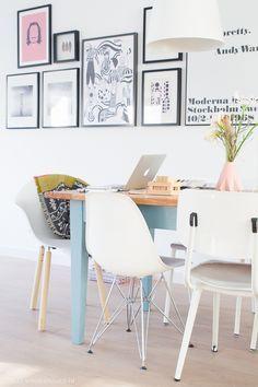 &SUUS   Aan de keukentafel   TOOU   www.ensuus.nl   Painted kitchen table   Workspace