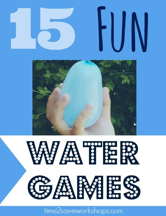 Loads of fun water games for kids to play at parties, or just to cool off in the yard this summer!