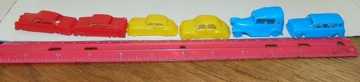MPC PLASTIC MINIATURE  CARS CEREAL Toys Ford Peugeot Jag Willys Olds Renault #MPC #FordPeugeotJagWillysOldsRenault