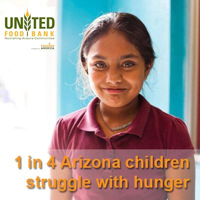 Want to be a virtual volunteer? Please Repin! 1 in 4 children in AZ don't know where their next meal is coming from.  We can make a difference together. #hunger #poverty #Arizona #Phoenix