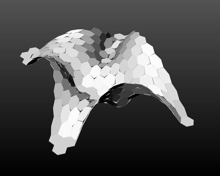 Planarization and bending forces simulation for architectural design ( algorithm in Kangaroo, Grasshopper ), Andrzej Bratkowski