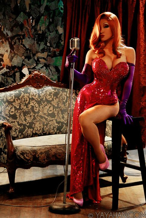 Yaya Han as Jessica Rabbit.  I'm usually disappointed by people who dress up as Jessica Rabbit, but not this time.