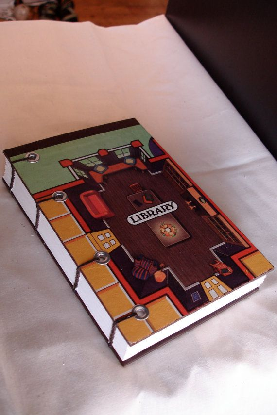make a notebook out of board games
