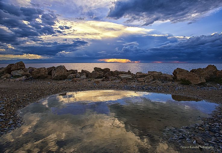 Landscape-Photography-Greece-Thessaloniki-Aggelochori-Thermanikos-Sea-Sky-Rocks-Sunset- Clouds