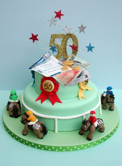 Horse Racing Cake/ Horse Riding Cake - The Sugar Rose Cake Company