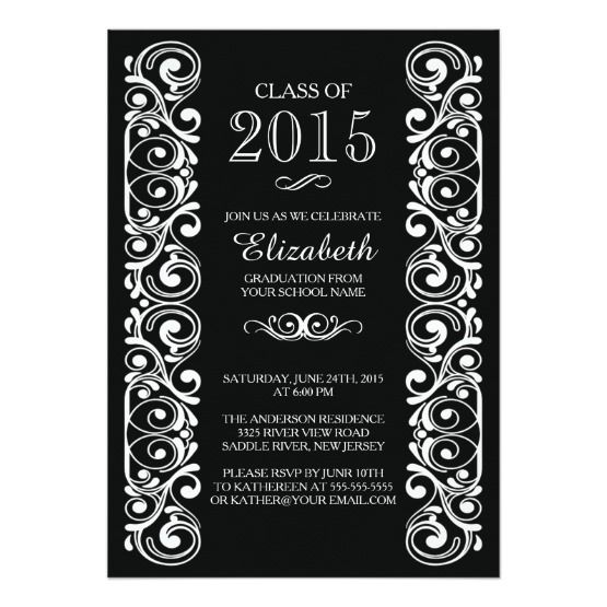 Graduation celebrating invitation or postcard background vector