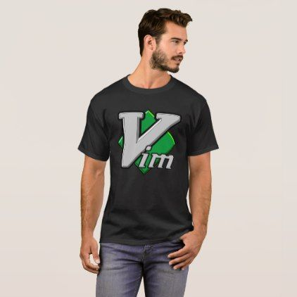 Official Vim Logo Vi IMproved Text Editor T-Shirt - logo gifts art unique customize personalize