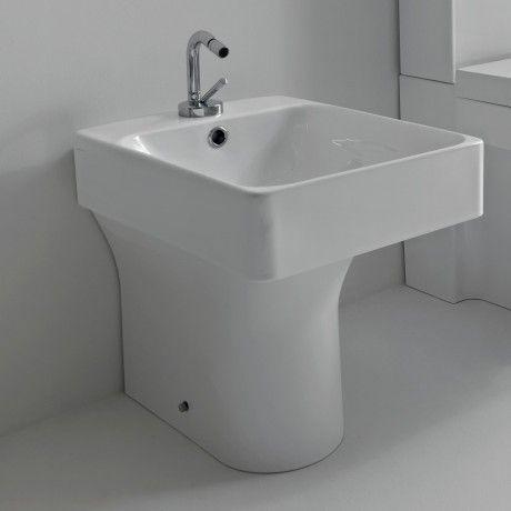 kerasan cento stand bidet eckig wei badezimmer pinterest badezimmer und baden. Black Bedroom Furniture Sets. Home Design Ideas