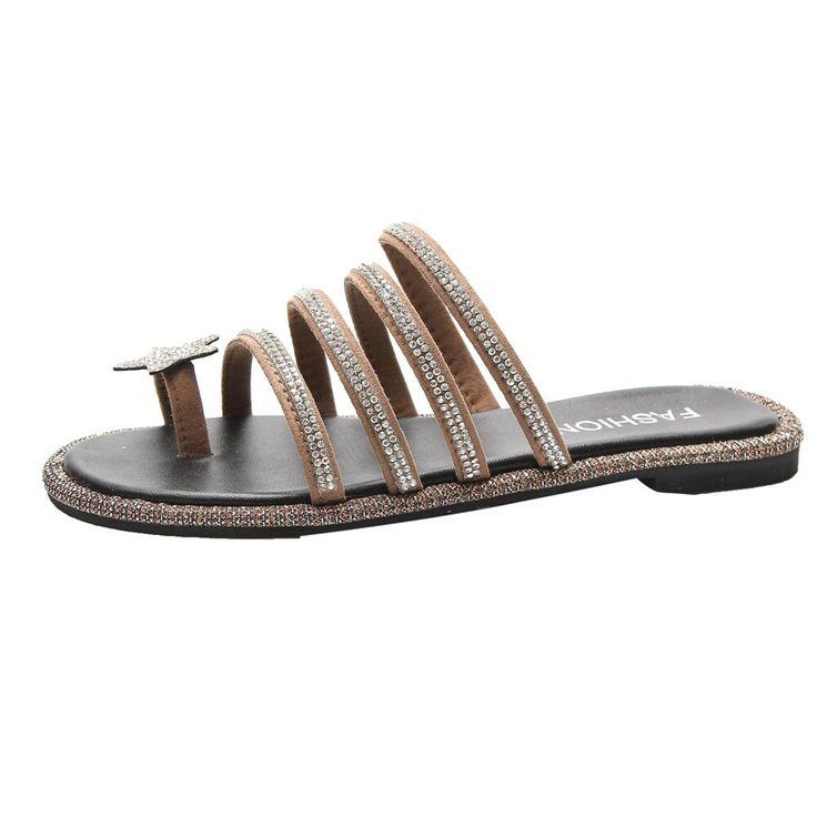 women flip flops Beach sandals fashion Bling slippers summer women flats shoes woman beach Fi…