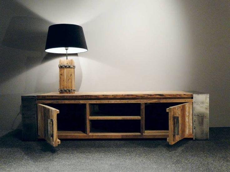 tv meubel staal hout - Google zoeken