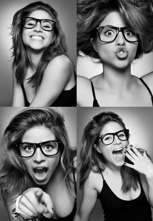 """Funny Faces Shoot"" - Nacho Casado photography {female woman portrait young woman with eyeglasses expressions}                                                                                                                                                                                 Más"