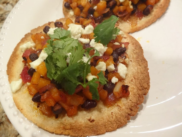 Butternut Squash Tostada with Goat Cheese & Black Beans from Schue ...