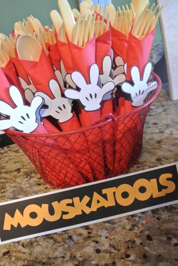 Mickey Mouse Napkin Rings by tatumspapercreations on Etsy, $8.00