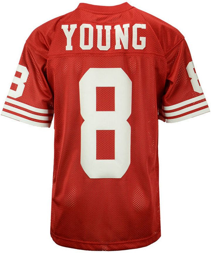 bb53a8c6537 Mitchell   Ness Men s Steve Young San Francisco 49ers Authentic Football  Jersey