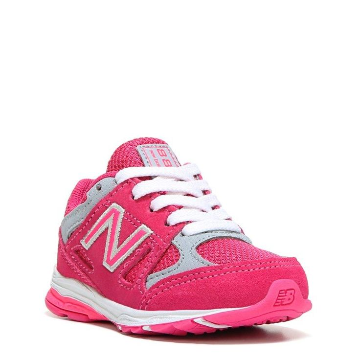 New Balance Kids' KJ888 Medium/Wide/X-Wide Running Shoe Baby/Toddler Shoes (Pink/Grey Leather) - 7.0 M