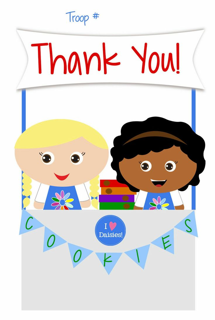 girl scouts   daisies   free printable thank you cards