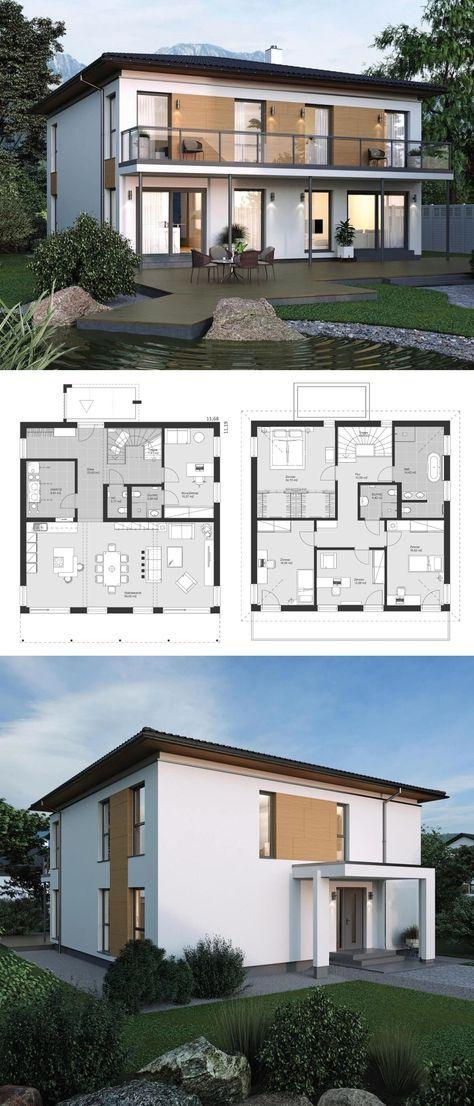 Moderne stadtvilla neubau klassisch mit walmdach for Architektur klassisch
