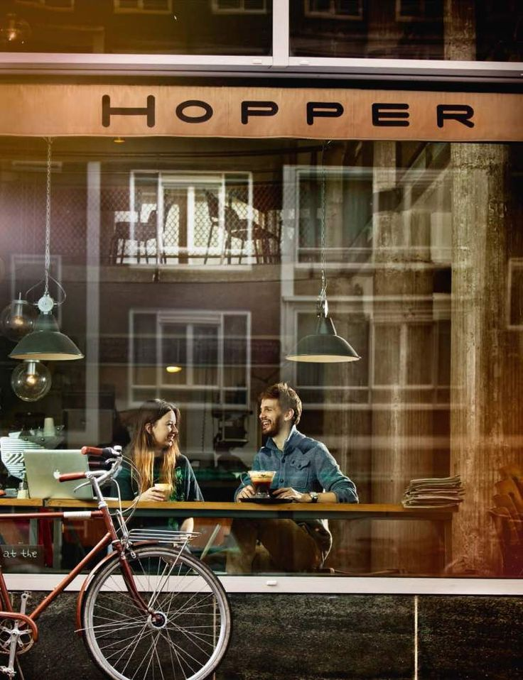 Hopper Coffee | Rotterdam - I'd love to go here one day for a coffee and some people watching.