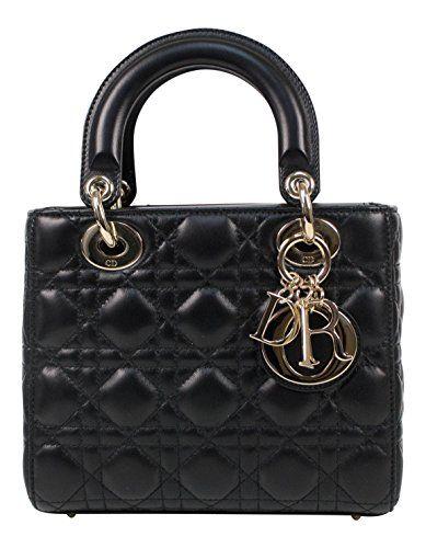 9f96cf0ea51ef Christian Dior Lady Dior Leather W Attachable Strap Mini Shoulder ...