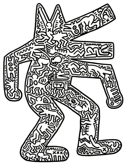 가장 맘에 들었던 1985년작 Dog (114.3 x 90.1 cm)