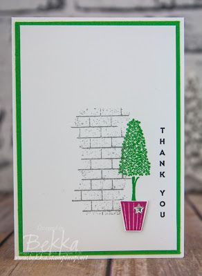 Stampin' Up! UK Feeling Crafty - Bekka Prideaux Stampin' Up! UK Independent Demonstrator: Make In A Moment Monday Vertical Greetings Thank You Card