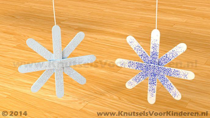 Sneeuwvlok van ijsstokjes - Knutsels Voor Kinderen - Leuke Ideeën om te Knutselen met Duidelijke Uitleg