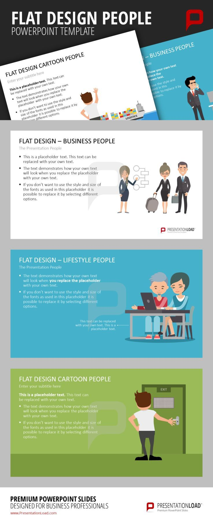 144 best flat design powerpoint templates images on pinterest these templates contains business people in flat design portrayed in various situations and with a alramifo Image collections