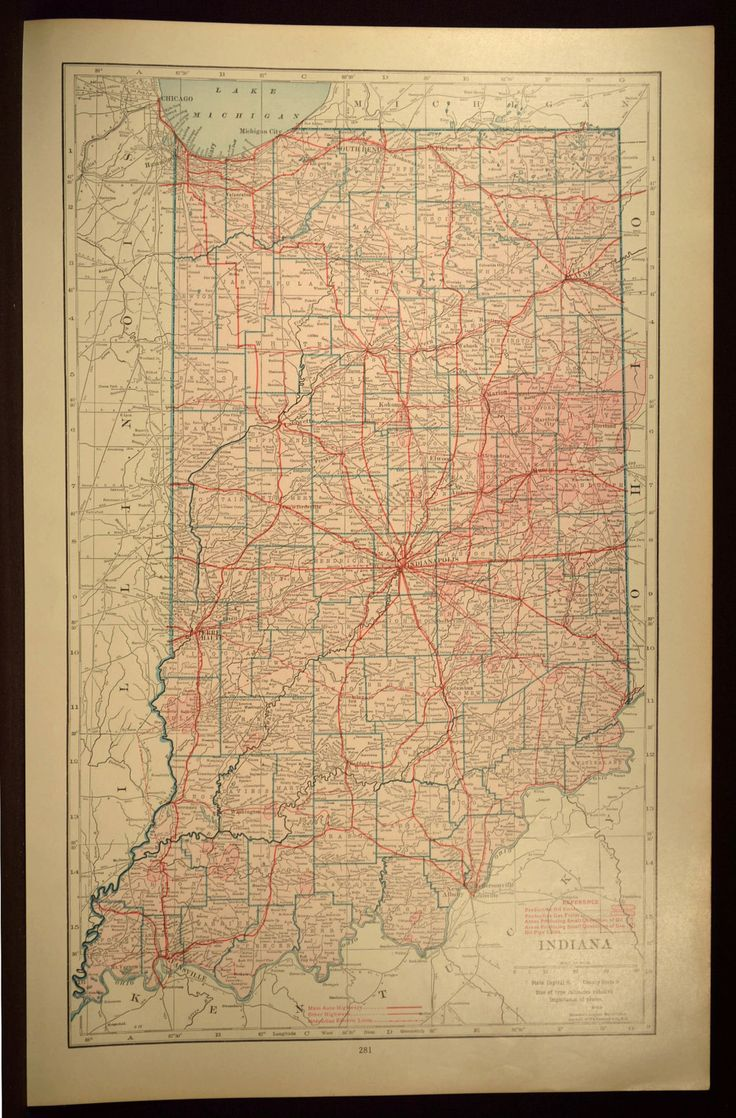 Kentucky County Map Editable%0A Indiana Map LARGE Indiana Road Map Highway Wall Art Decor