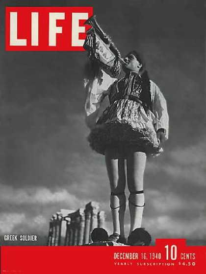 Life magazine, December 1940 | Greek soldier (I actually own one copy)