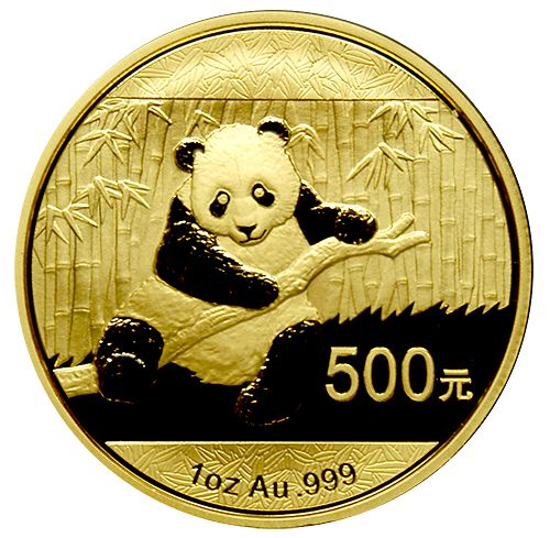 2014 China Panda Gold Coins - 1 oz. - Since they were first minted in 1982, the Chinese Panda Coins have been created for the demanding coin collector as a tribute to China's endangered Giant Panda Bears. The brand new 2014 design features a beautiful sitting Panda surrounded by a field of bamboo. The combination of intricate detailing and the annual design changes make the China Panda Gold Coins unique.