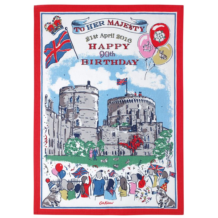 The Queen's 90th Birthday Tea Towel | View All | CathKidston