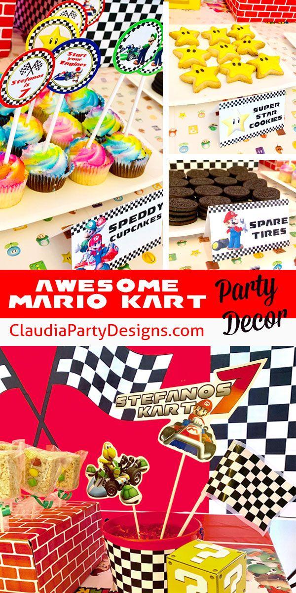 Pin On Mario Kart Birthday Party Ideas