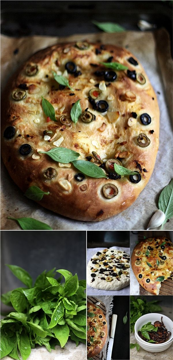Ottolenghis Focaccia My favorite! The olives give a great touch to the bread, can't wait to try this recipe & bake!!