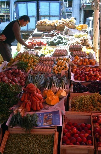 Los productos frescos del mercado Valdivia: Paisajes y Fotografías de la Araucanía y Los Lagos