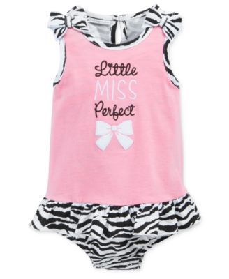 First Impressions Baby Girls' Little Miss Perfect Sunsuit, Only at Macy's