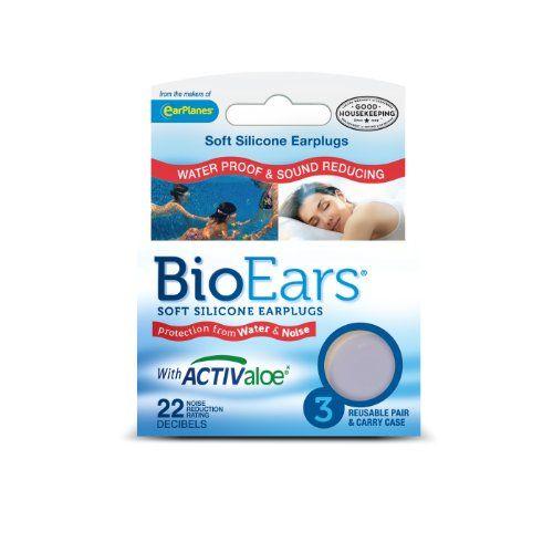 Bio Ears Soft Silicone EarPlugs Protection - 3 Pairs.
