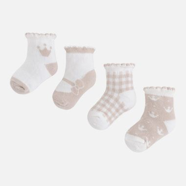 Dievčenský set ponožiek 4ks Mayoral - Beige