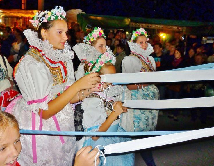 tradice jižní moravy, Czech republic Moravian vineyards Young people keep folk traditions