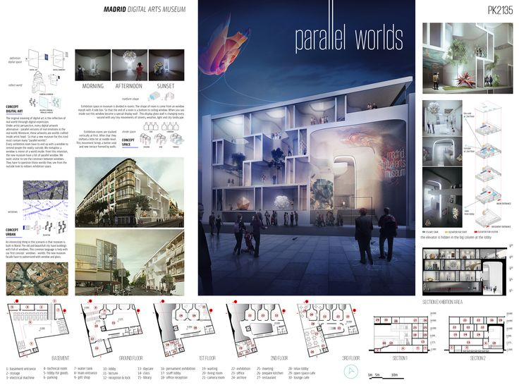 """    Honorable Mention     """"Parallel Worlds"""" by Vietnamese team: Arch. Lý Thanh Hoàng Phúc / Do Thi Vanh Khuyen / Nguyen Duc Canh / Phan Quang Duy, from Cưng Studio"""
