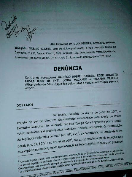 Blog do jornal Folha do Sul MG: Advogado da Prefeitura pede cassação dos vereadore...