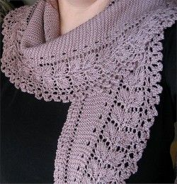 Бактус – вязанный шарфик-косынка – Мир вязания и рукоделия